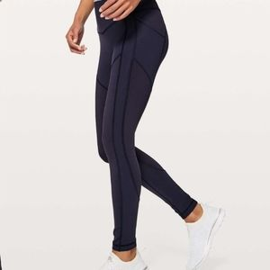 Lululemon All The Right Places Navy Leggings